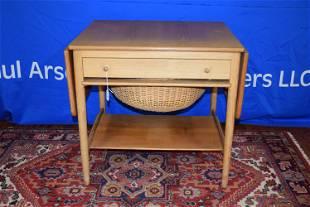 Danish Modern Drop Leaf Sewing Table