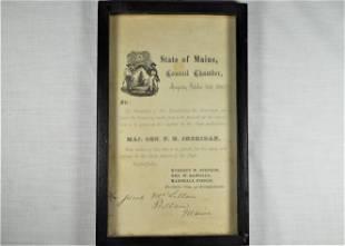 State of Maine 1867 Invitation