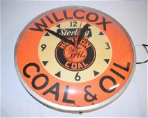 Vintage Advertising D+H Hudson Coal Clock