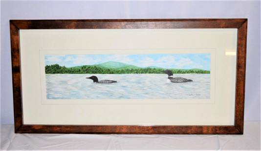 Loon Painting by Cynthia M. Madore