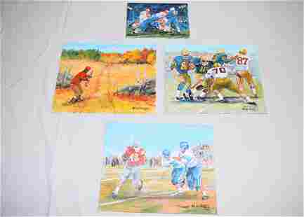 Lot of Bill Paxton Oil On Boards