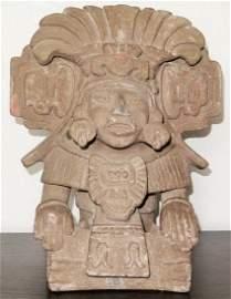Pre Columbian Burial Urn - Cocijo Zapotec Terracotta 13
