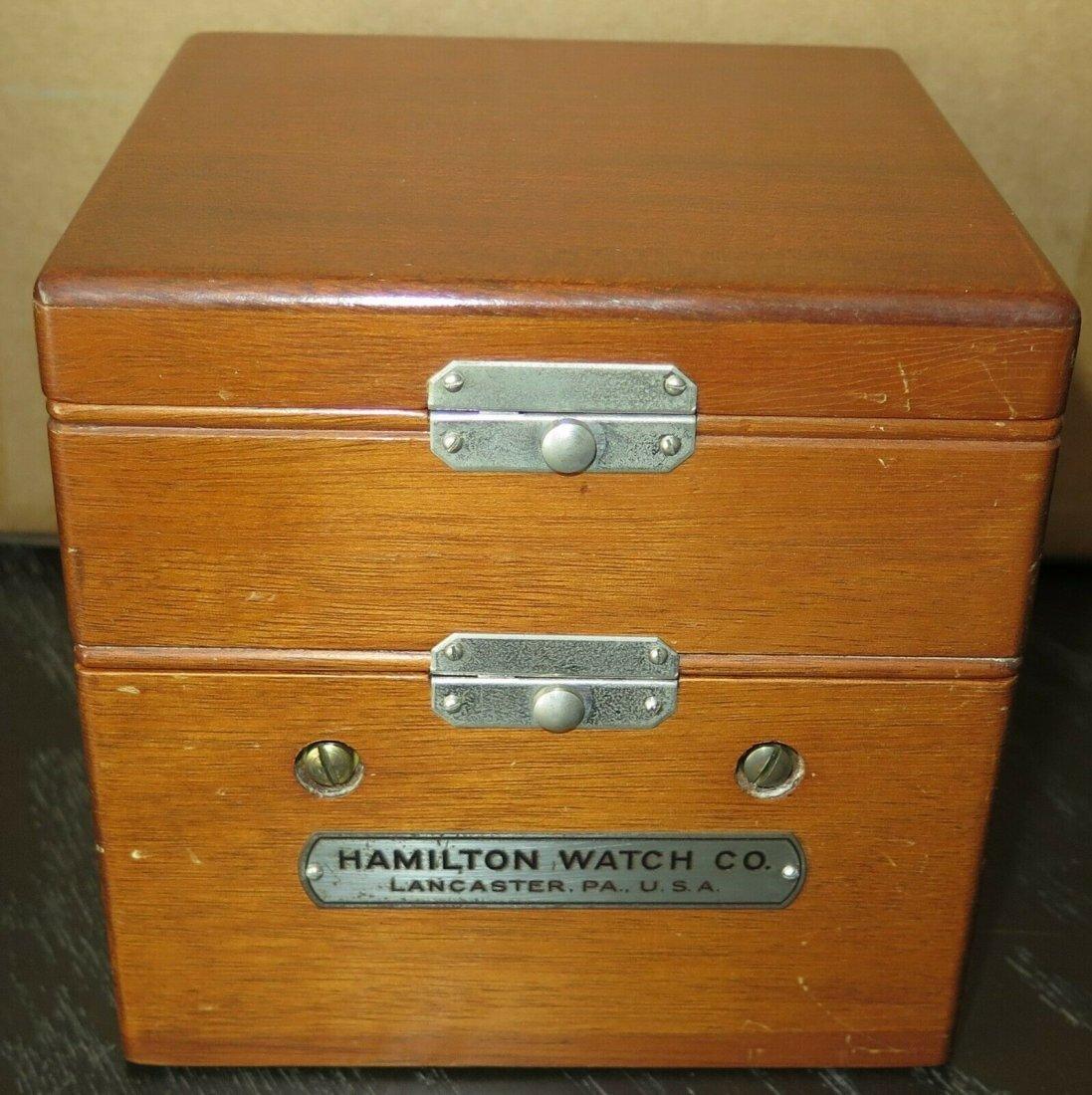 Hamilton mdl 22 ship's clock chronometer Deck watch WW2 - 5