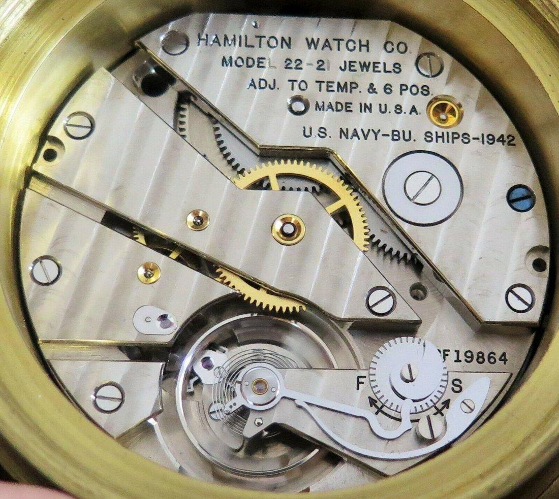 Hamilton mdl 22 ship's clock chronometer Deck watch WW2 - 8