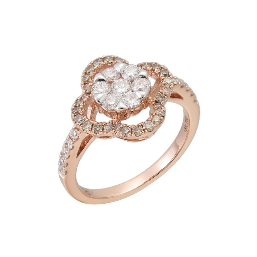 Certified 18k / 14k Gold and Diamonds Ring