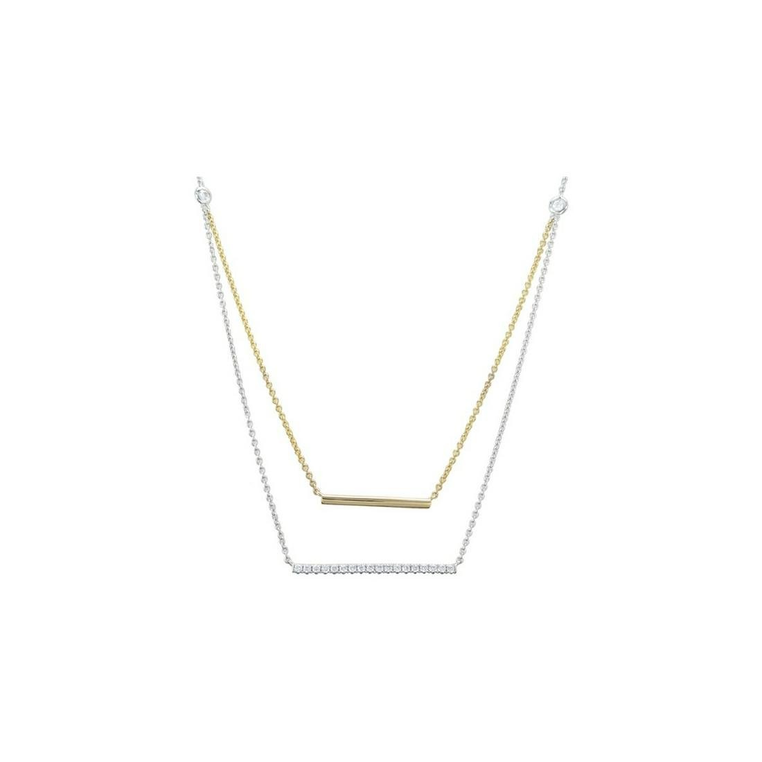 Certified 18k/14k Gold and Diamonds Necklace