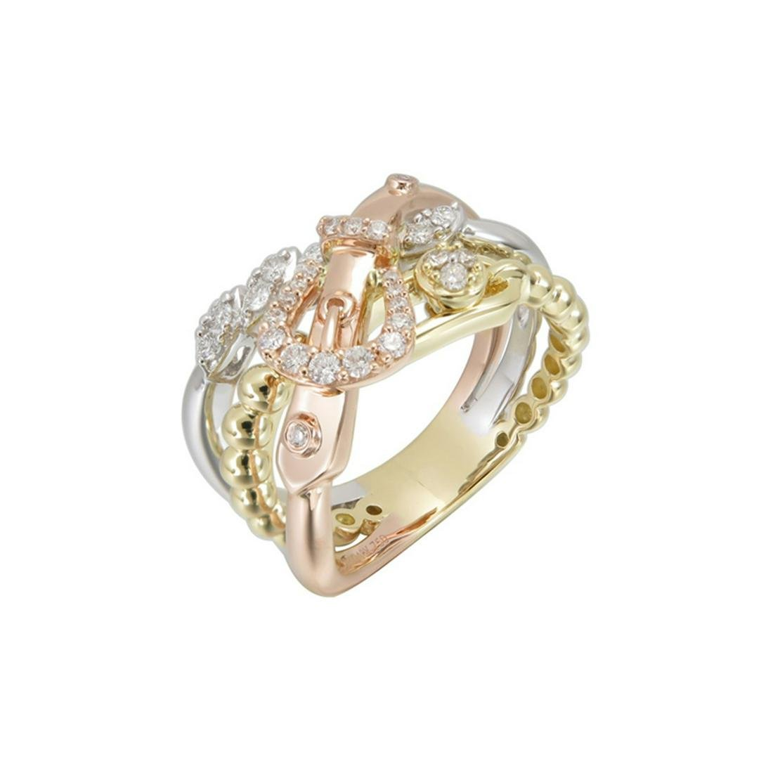 Certified 18k/14k Gold and Diamonds Ring