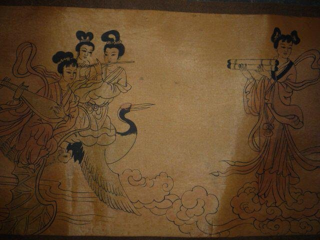 A RARE INK & COLOR EMPIRE PAINTING QING DYNASTY.