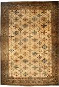 AN-ANTIQUE VINTAGE WOOL PERSIAN SULTANABAD CARPET.