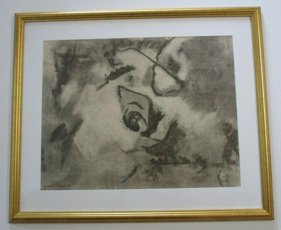 A  ABSTRACT MODERN EXHIBITED DRAWING HAROLD DAVIES.