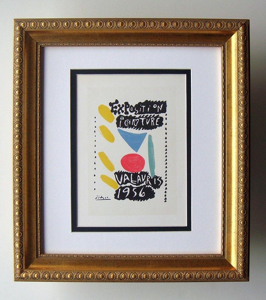 A PABLO PICASSO POSTER EXPOSITION PEINTURE FRAMED.