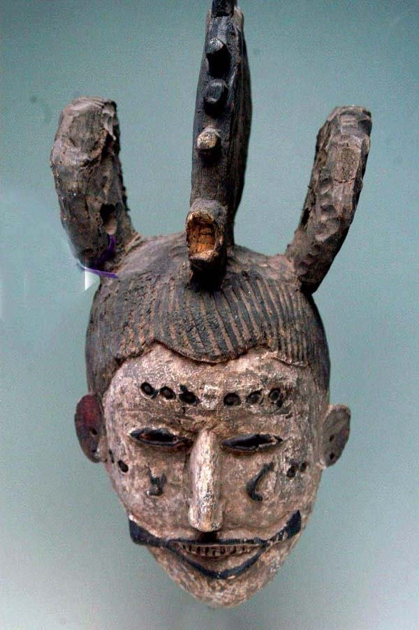 12: AFRICAN MASK - IBO TRIBE