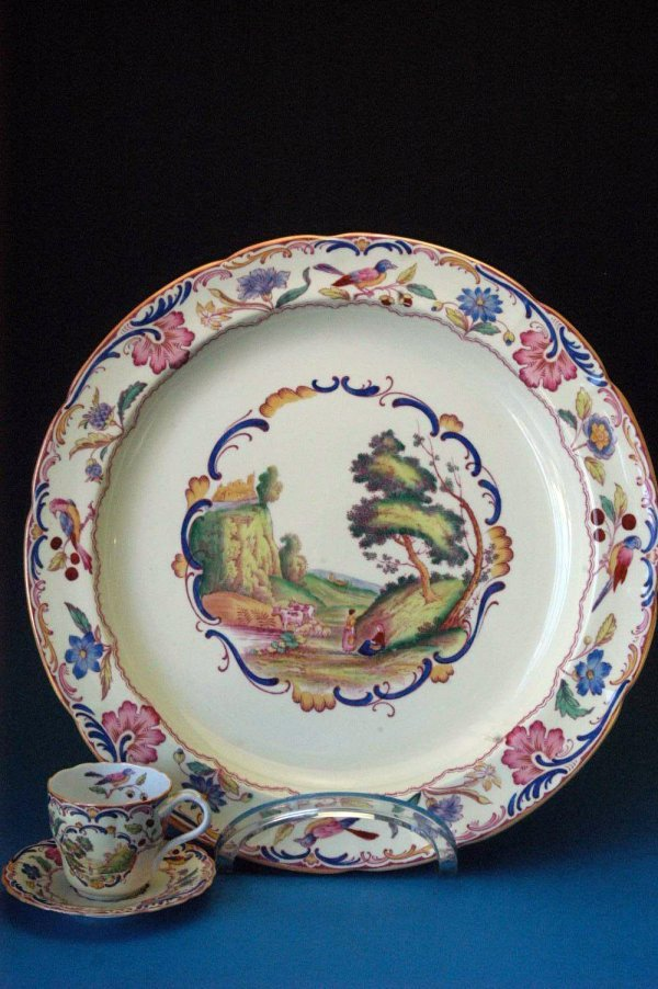 701: Spode's Gobelin platter, cup and saucer