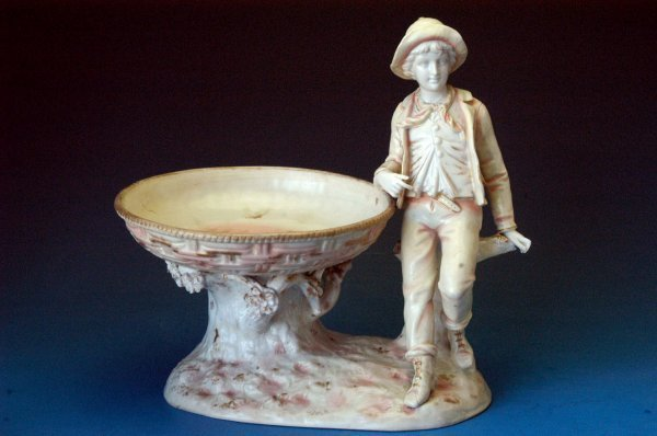 702: Rudolstadt figural centerpiece bowl with youth