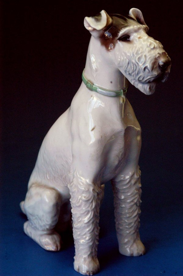 703: Etchenbach porcelain Dog Terrier figurine