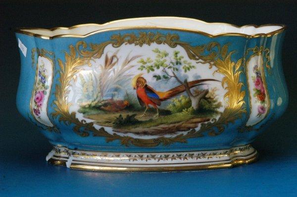 712: Sevres style porcelain centerpiece bowl
