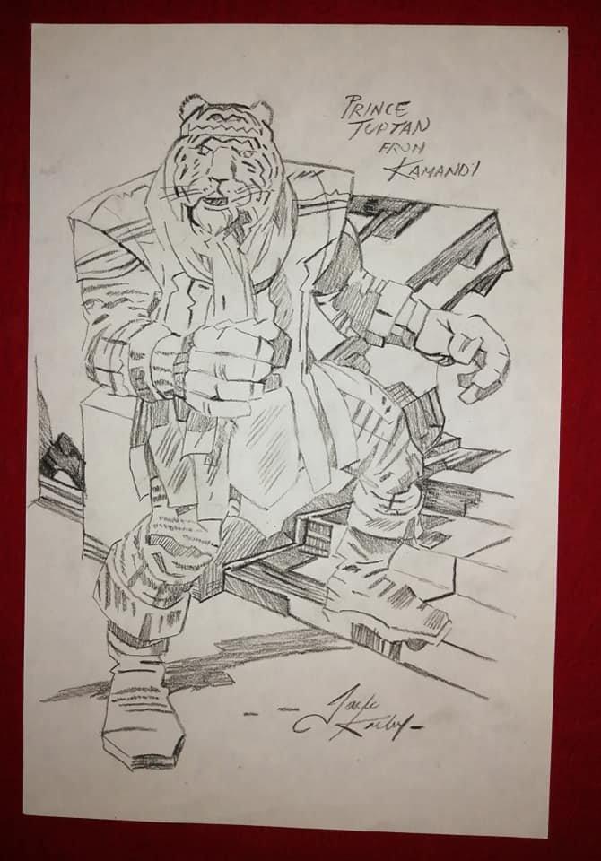 Jack Kirby American (1958-1990) Graphite - crayon