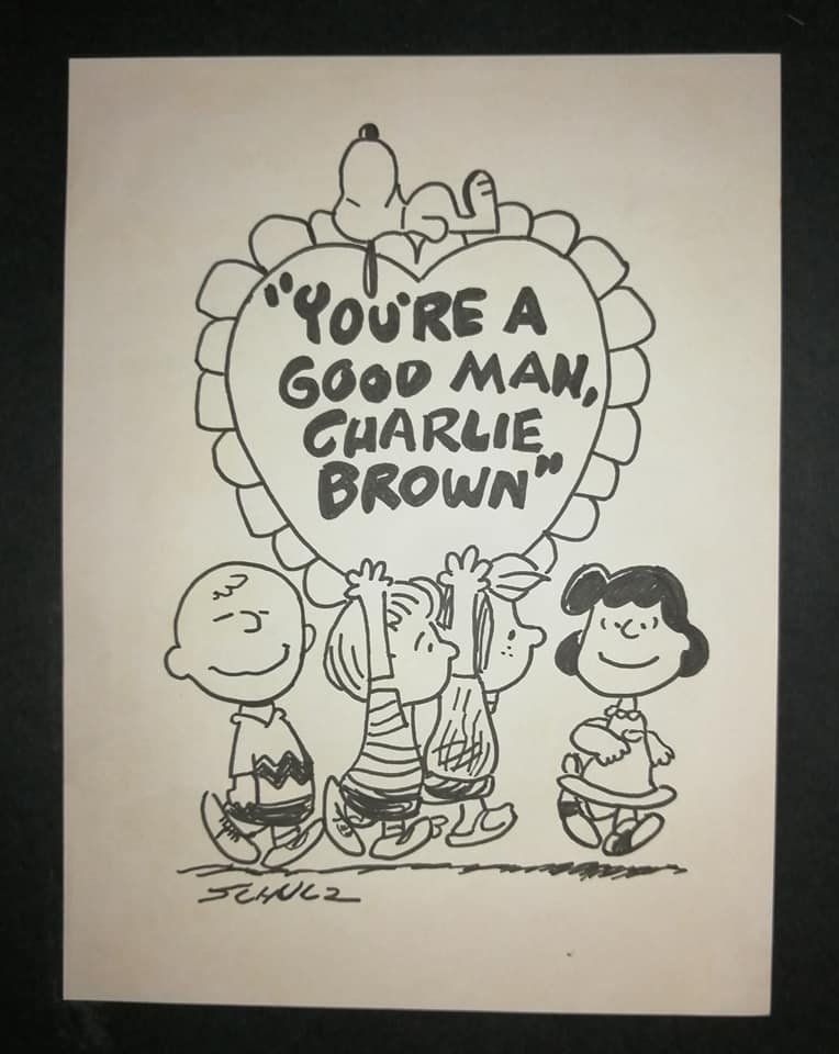 Charles Schulz. Ink Drawing.