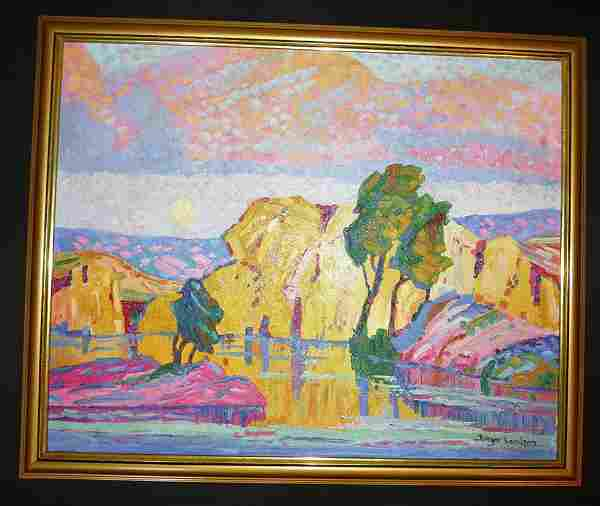 BIRGER SANDZEN (1871 - 1954) OIL ON CANVAS