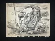 Vincent Van Gogh Dutch (1853-1890) Charcoal
