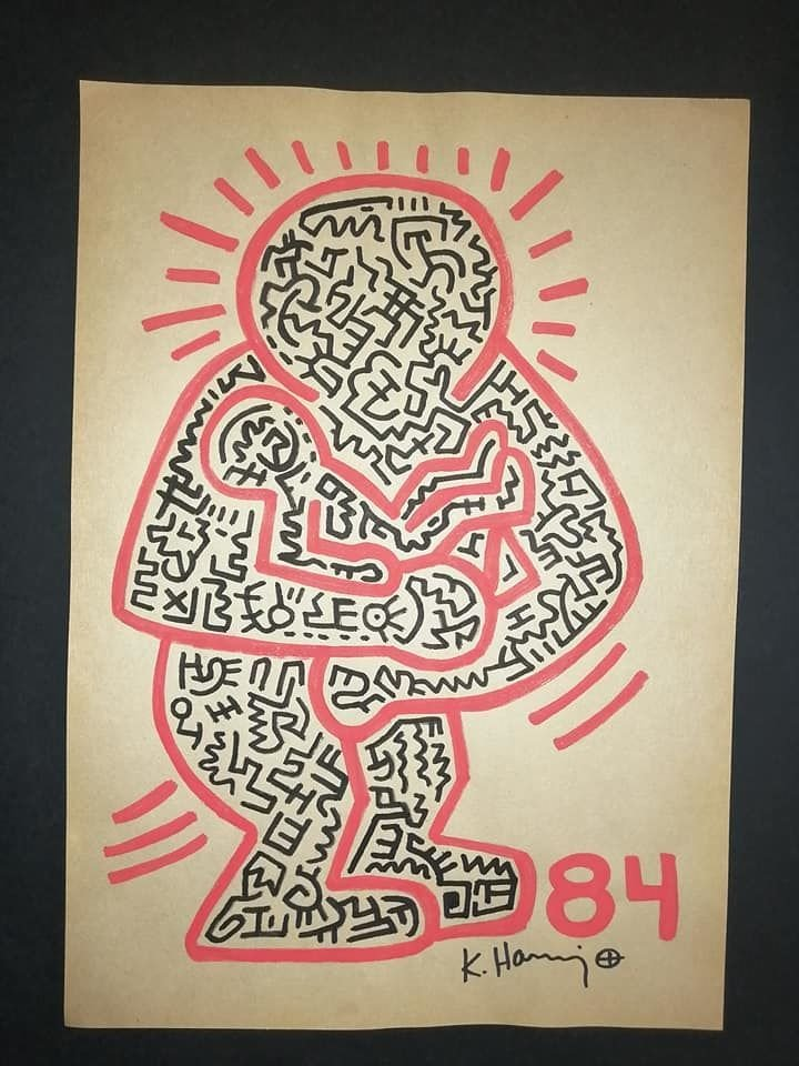 Keith Haring Untitled Marker on Paper