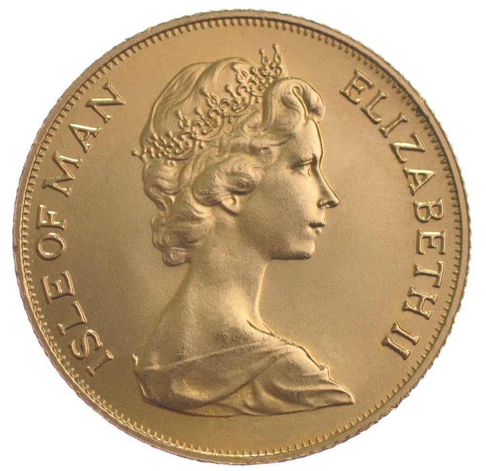 Isle of Man, Elizabeth II, gold Half-Sovereigns