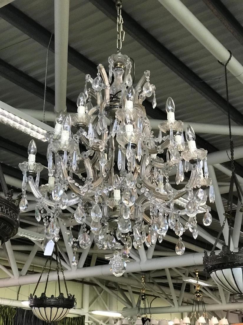 "Venetian 16 branch cut glass chandelier 30"" W x 36"" H"