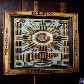 Late 19th. C. glazed display board - Eley Sporting