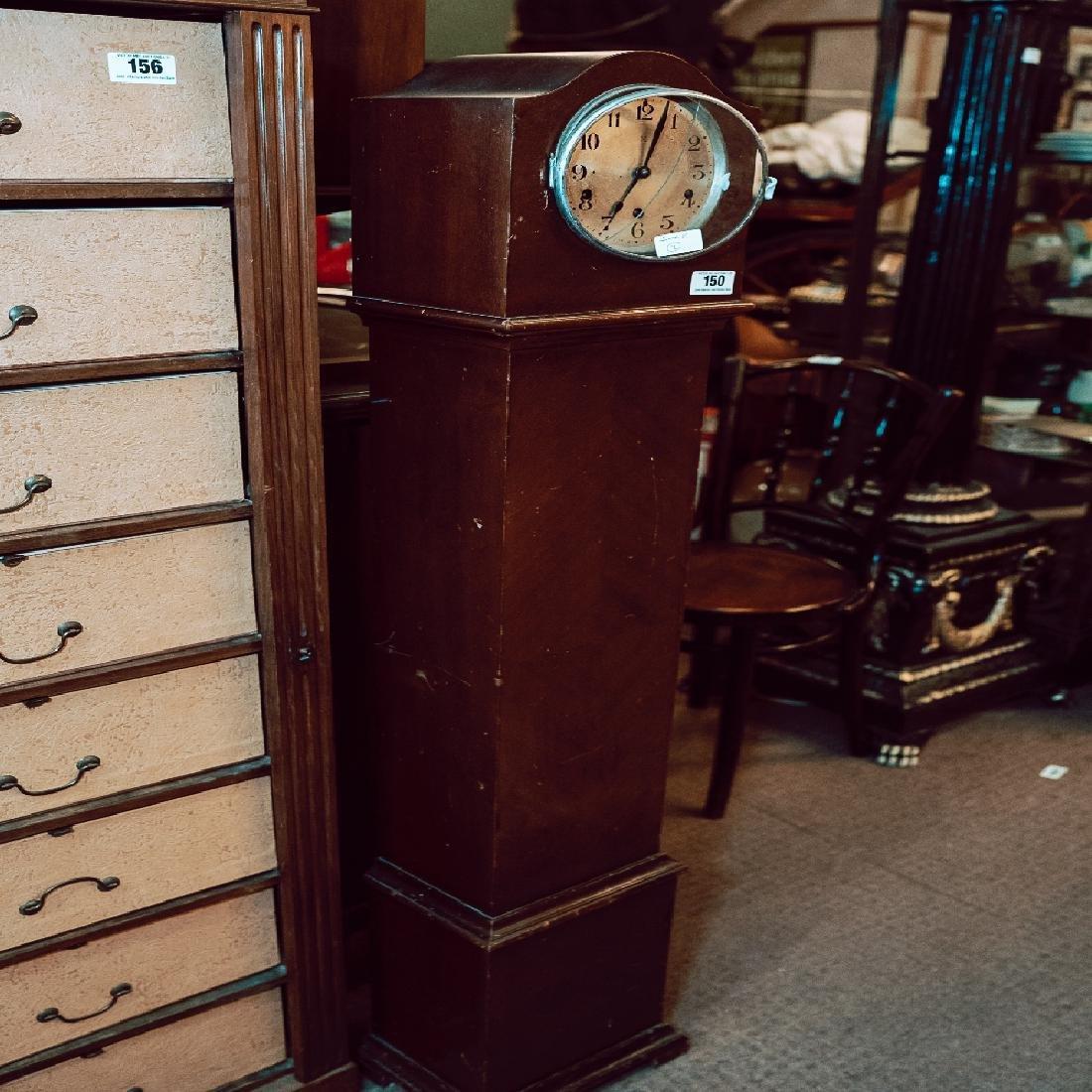 Edwardian mahogany Grand daughter clock.