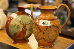 Dewar's Whiskey ceramic flagon and Royal Doulton