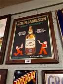 Framed John Jameson Irish Whiskey pictorial advertising