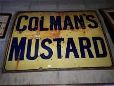 Colemans Mustard enamel advertising sign.