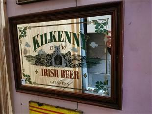 Guinness advertising mirror