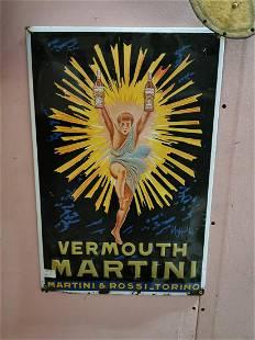 Vermont Martini tinplate advertising sign