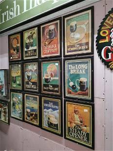 12 Guinness Advertising prints
