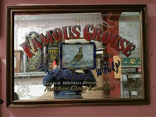 Famous Grouse Scotch Whisky Advertising Mirror