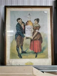 Hand in Hand Irish Whiskey Advertising Print