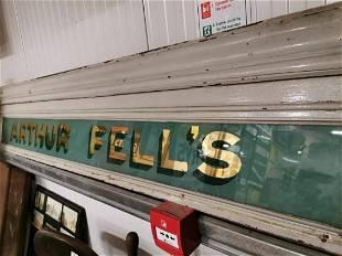 Arthur Fells Glazed Advertising Sign
