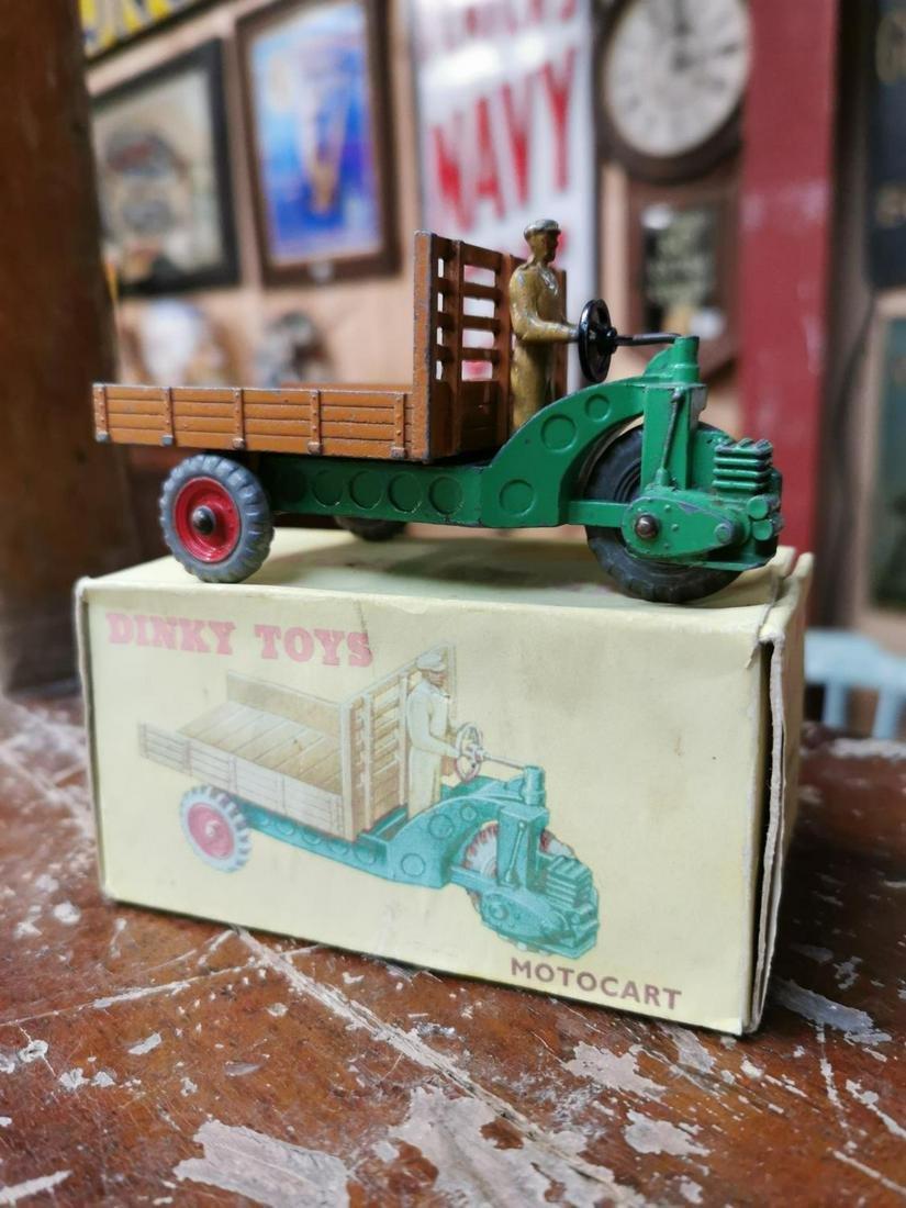 Rare Dinky Toys motor cart in original box.