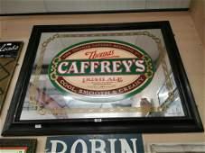 Thomas Caffrey Brewing Company advertising mirror