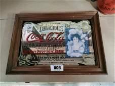 Coca Cola Advertising Mirror.