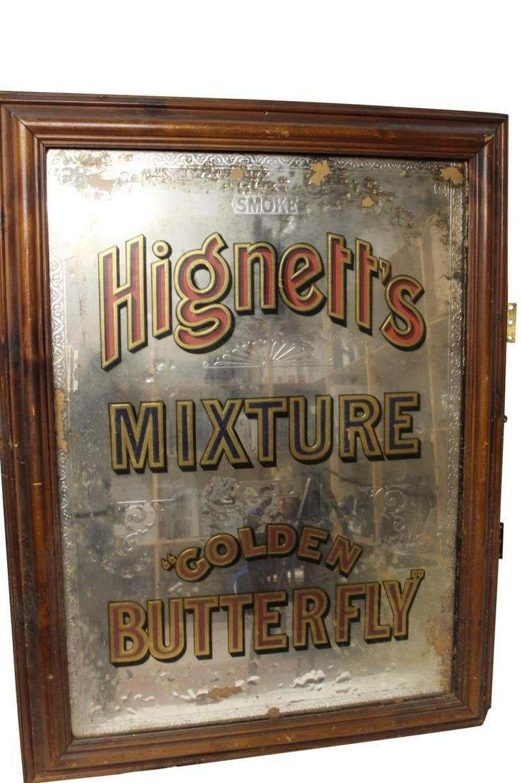 Rare early 20th C. Hignetts Mixture Golden Butterfly