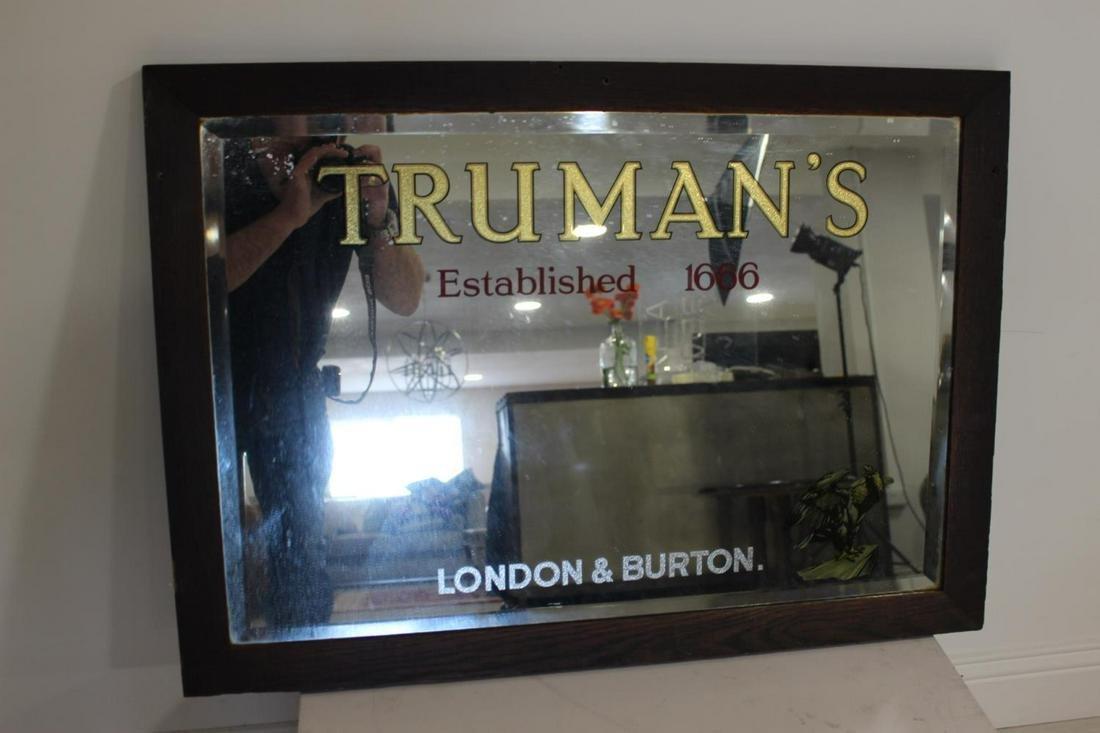 Truman's London & Burton framed advertising mirror.