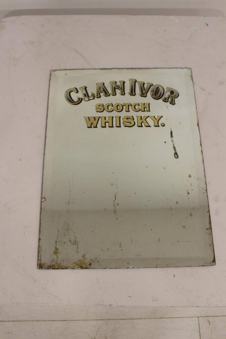 Clanivor Scotch Whisky advertising mirror.