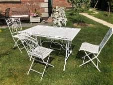Vintage metal garden set