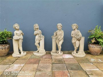 Set of four early 20th C. figures The Scholars.