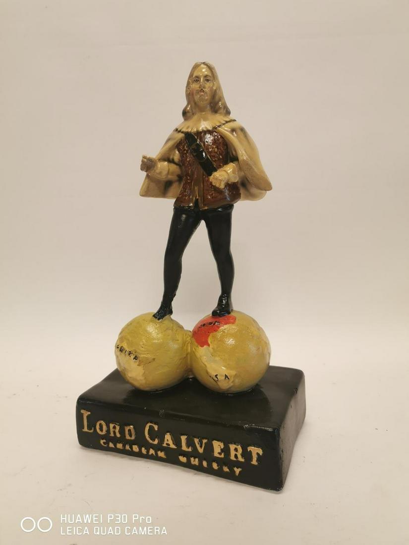 Rare Lord Calvert Canadian Whiskey advertising figure.