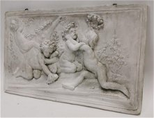 Early 20th C. plaster wall plaque depicting Grecian