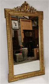19th C. giltwood and gesso overmantle mirror.