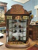 Rare early 20th C. mahogany The CIVIC Pipes advertising